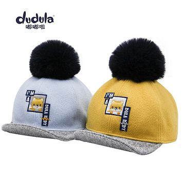 Dudu Hat Baby Hat Autumn And Winter 1-6 Year Old Baby Boy Girl Cute Cap
