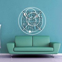 All of Time and Space Escape - Doctor Who Wall Decal