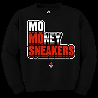 Jordan 3 Red Cement Unite Mo Sneakers Black Crewneck