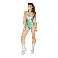 Roma Rave 3562 - 1pc Two-Tone Shimmer & Sequin Romper