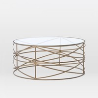 Sculptural Brass Coffee Table