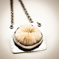 Mushroom Coral Statement Necklace