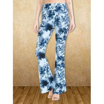 Tie Dyed Bell Bottoms - Blue & White