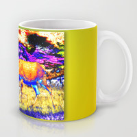 Red deer cow Mug by Karl-Heinz Lüpke