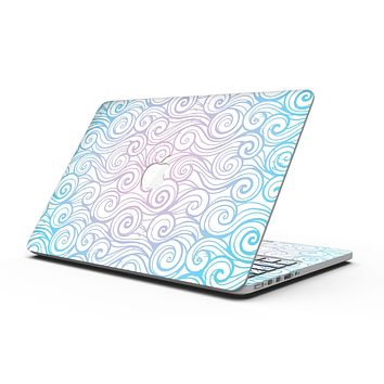 Vivid Blue Gradiant Swirl - MacBook Pro with Retina Display Full-Coverage Skin Kit