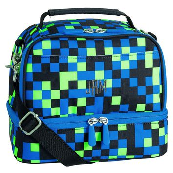 Gear-Up Neon Pixel Dual Compartment Lunch Bag