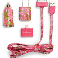 Lilly Pulitzer 'Beach Rose' iPhone Charging Kit