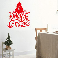 merry christmas tree wall stickers christian room home decoration 19. diy vinyl xmas quotes decals festival mual art posters 5.0 SM6