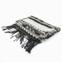 Native Print Scarf Black Combo One Size For Women 24562014901