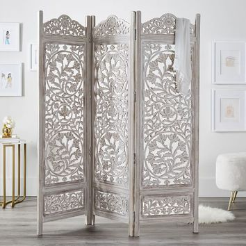 Ornate Wood Carved Screen