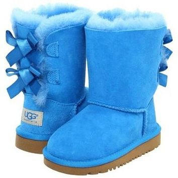 UGG Fashion Winter Women Cute Bowknot Flat Warm Snow Ankle Boots-2
