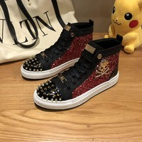 PHILIPP PLEIN PP popular Casual Running Sport Shoes Sneakers Slipper   Sandals High Heels Shoes