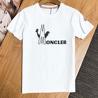 Moncler  Summer New fashion letter print couple top t-shirt White