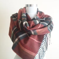 Plaid Scarf,Tasseled Plaid Scarf,Unisex Plaid Scarf,Accessories for Women and Men,Scarves