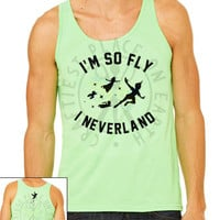 "Disney Inspired Tank, Shirt, or Raglan // Peter Pan // ""I'm So Fly I Neverland"""