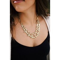 Baddie Chain Necklace, Gold