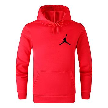 Jordan Tide brand solid color wild casual sports hooded sweater