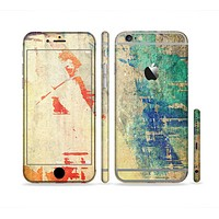 The Grunge Multicolor Textured Surface Sectioned Skin Series for the Apple iPhone 6 Plus