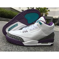 Air Jordan 3 Retro Hornets Basketball Shoes 36-47