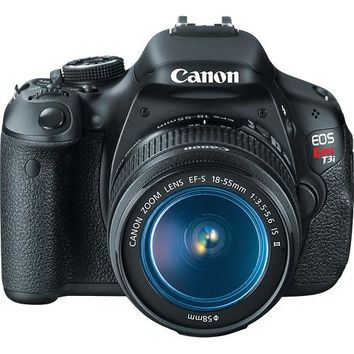 Canon - EOS Rebel T3i DSLR Camera with 18-55mm IS Lens - Black