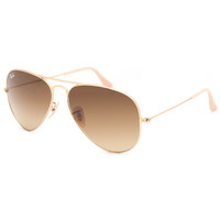 Ray-Ban Aviator Gradient Sunglasses Gold One Size For Men 25615362101