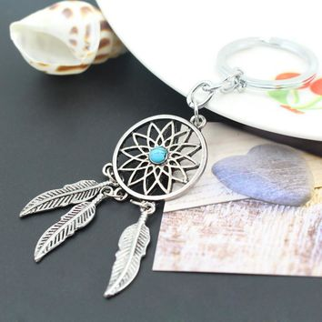 Gift Functional Trendy Creative New Arrival Great Deal Accessory Stylish Hot Sale Dream Catcher Tassels Turquoise Keychain [10985361287]