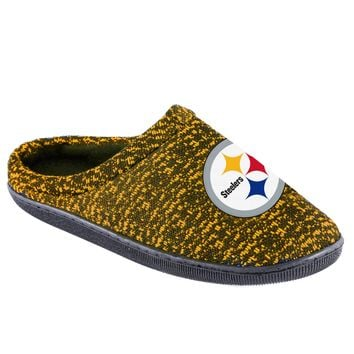 Pittsburgh Steelers Official NFL Poly Knit Cup Sole Slipper
