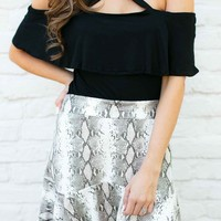 Ball For Me Cross Front Off Shoulder Top