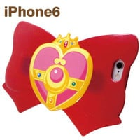 Sailor Moon Ribbon Shaped Case for iPhone 6 Case (Cosmic Heart Brooch)