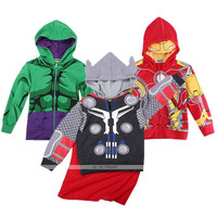 Kids Toddler Boys Superhero Autumn Hooded Coats Jackets Hoodies Jumper 2-8 Years = 1931491524