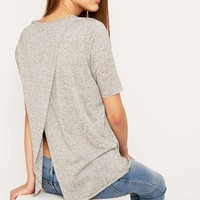 Cheap Monday Enfold Grey Top - Urban Outfitters