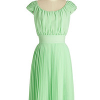 ModCloth Long Cap Sleeves A-line Walking by the Water Dress