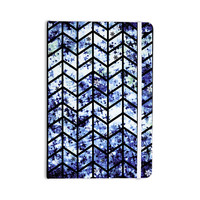 "Ebi Emporium ""Chevron Wonderland II"" Blue Black Everything Notebook"