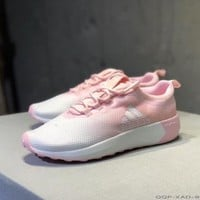 """""""Adidas Cloudfoam Race"""" Fashion Casual Multicolor Gradient Color Running Shoes Sneakers"""
