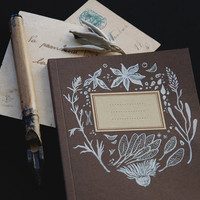 herbs notebook • witch journal - botanical notebook - herbs and spices - botanical illustration - pagan notebook - plant diary - witchcraft