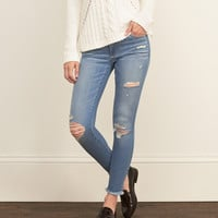 Core Rise Ankle Super Skinny Jeans