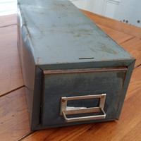 Vintage Grey Metal Industrial Steelmaster Cabinet Drawer for Decor Man Cave Office Craft Room Studio Artist Storage and Organization