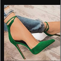 Hot style hot selling pointed sexy hollow fashion rivet high heel sandals