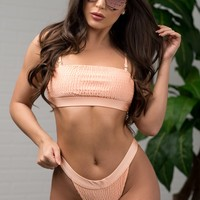 Breakwater Beach Swimsuit - Peach