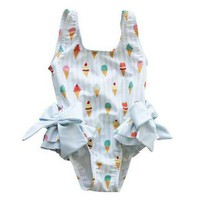 Ice Cream Bow One Piece Swimsuit