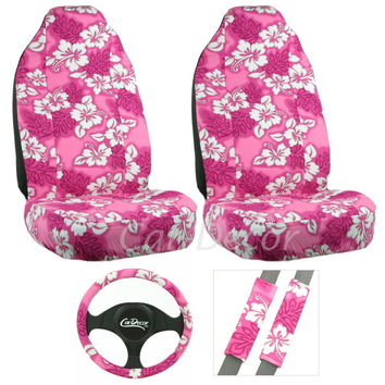 Hawaiian Pink 5 Pc Seat Cover Set