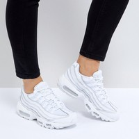 Nike Air Max 95 Trainers In All White at asos.com