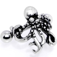 "16 Gauge 1/2"" Outstretched Octopus Cuff Cartilage Earring"
