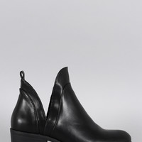Wild Diva Lounge Cutout Ankle Bootie