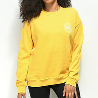 Obey Rue de La Ruine Delancy Yellow Crew Neck Sweatshirt | Zumiez