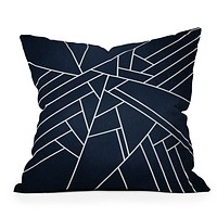 Elisabeth Fredriksson Geometric Navy Throw Pillow
