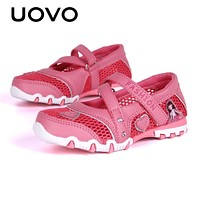 Spring Shoes For Kids Girls Princess Shoes Breathable Mesh Shoes For Little Girls Cartoon Flats Children