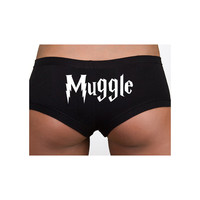 Harry Potter Inspired Clothing - Intimates - Muggle Cotton Spandex Shortie - Ladies