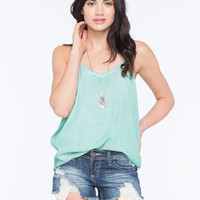 Rvca Fight Or Flight Womens Tank Sage  In Sizes