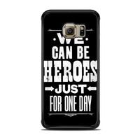 David Bowie Song Lyric Quote Samsung Galaxy S6 Edge Case